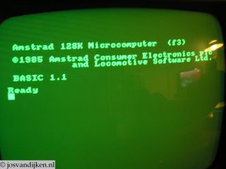 Amstrad Start Screen